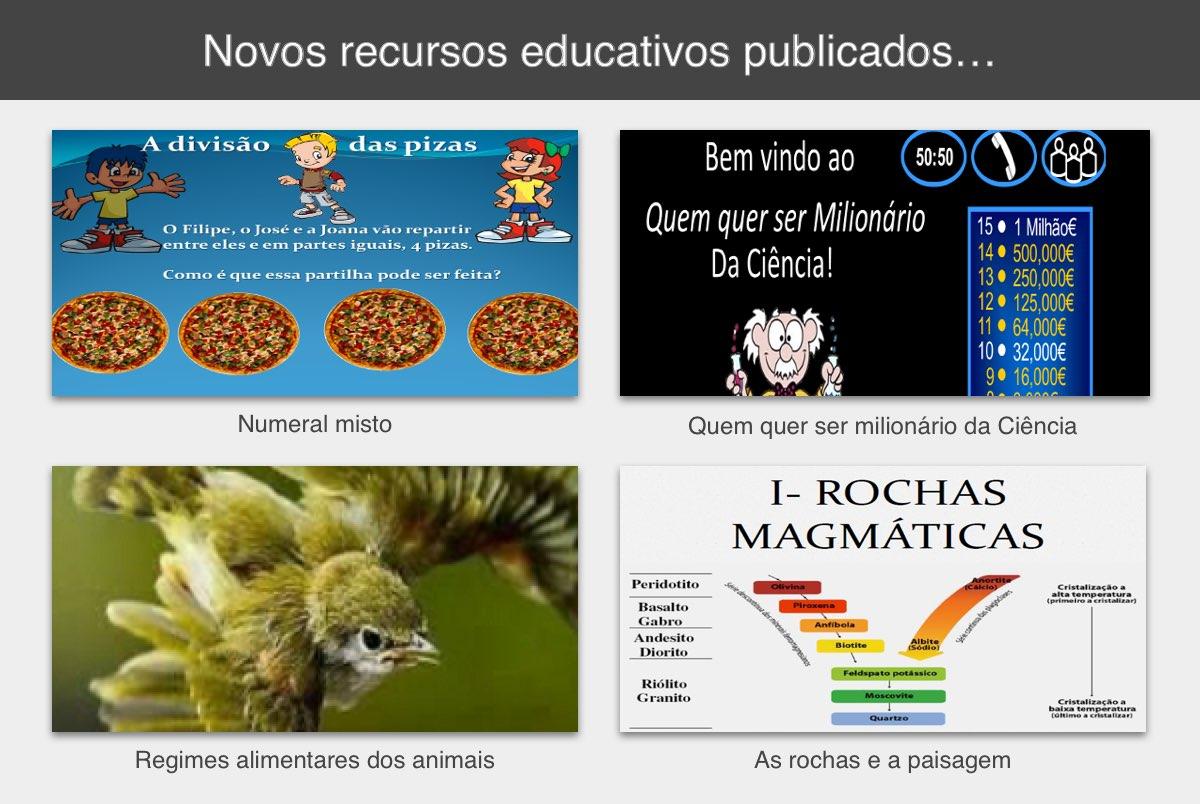 Novos recursos educativos publicados
