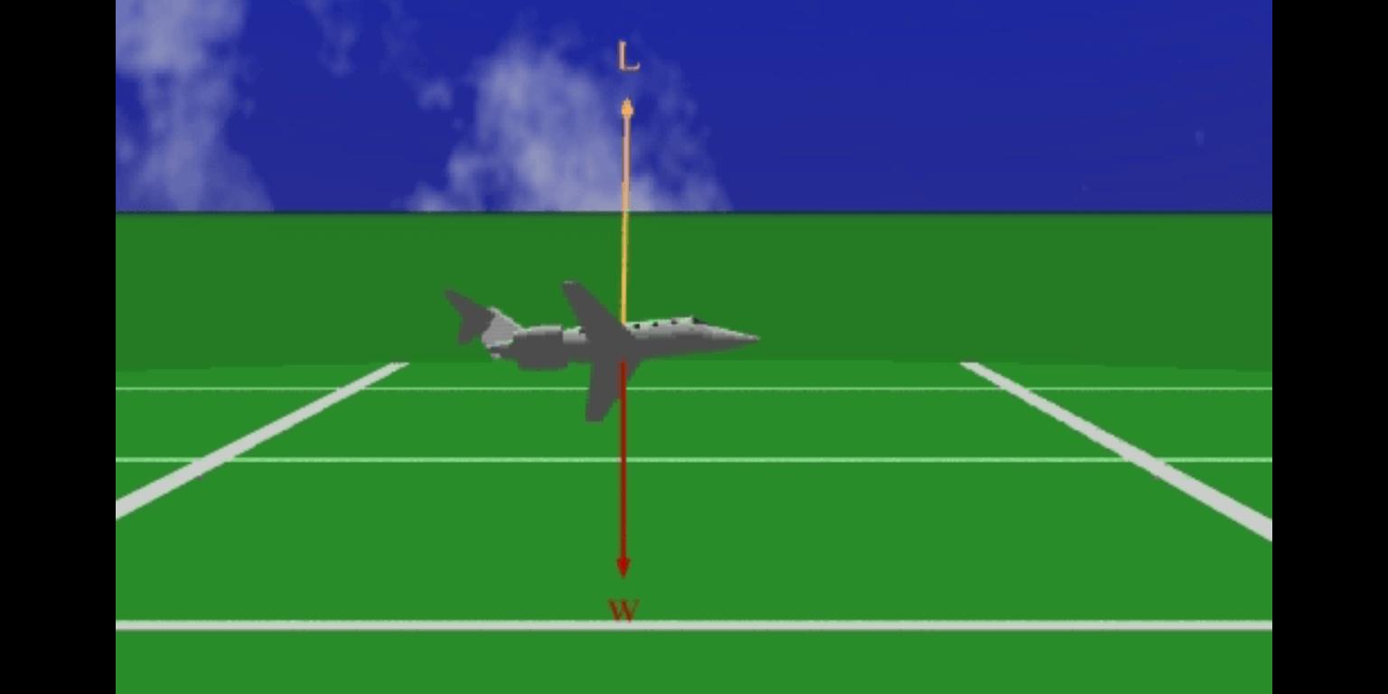Equilíbrio de forças num avião em voo circular